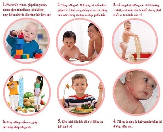 tác dụng yến sào với trẻ em